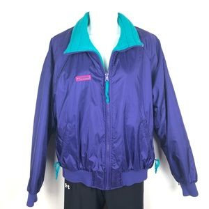 Vintage Columbia Ski Jacket Purple & Turquoise L